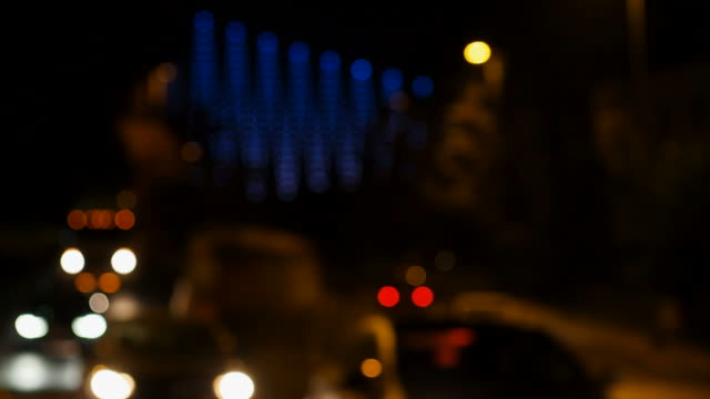 Bokeh Lights Of The Cars at Night