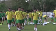 Bolivia's national team starts training ahead of the upcoming Copa America
