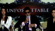 Bollywood 'Unforgettable Tour' Photocall and press conference Amitabh Bachchan answers question about how they keep physically fit for the stage show...