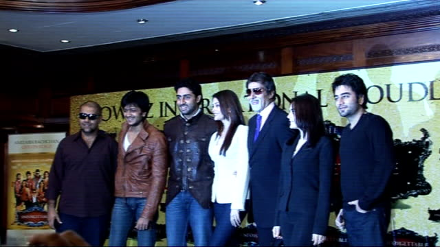 Bollywood 'Unforgettable Tour' Photocall and press conference ENGLAND London INT **flash photography throughout** Bollywood stars from the...