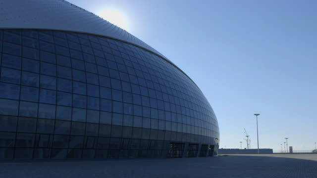 WS Bolshoy Ice Dome PAN Plaza paved w/ stones Black Sea in distance