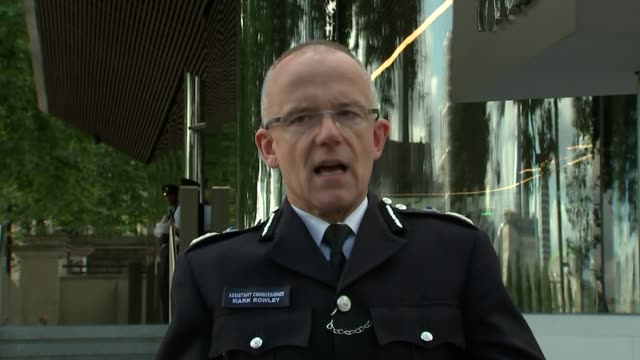 Bomb explodes on Tube train at Parsons Green Asst Commissioner Mark Rowley press statement ENGLAND London New Scotland Yard EXT Assistant...