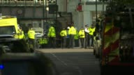 Bomb explodes on Tube train at Parsons Green ENGLAND London Parsons Green EXT Ambulance and police officers on cordoned off road Group of police...