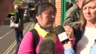 Bomb explodes on Tube train at Parsons Green ENGLAND London Parsons Green EXT Various of ShuChen Warner chatting to press ShuChen Warner interview...