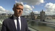 Bomb explodes on Tube train at Parsons Green Sadiq Khan interview ENGLAND London City Hall EXT Sadiq Khan interview re Parsons Green terrorist attack...