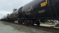 Bomb oil train bomb train traveling down the tracks