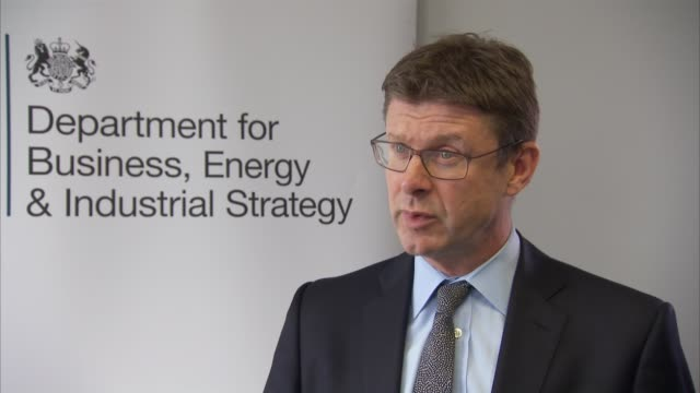 Greg Clark interview ENGLAND London INT Greg Clark MP interview SOT re government action on bombardier tax / US trade deal postBrexit