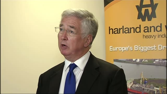 Bombardier US tariff row / Belfast jobs at risk INT Sir Michael Fallon press conference SOT Boeing is a major defence partner of the United Kingdom...