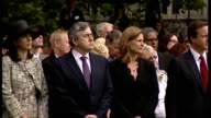 Service to unveil Hyde Park memorial Trevor MacDonald introduces Prince Charles Prince Charles speech SOT touched and humbled by invitation to join...