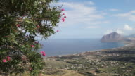 Bonagia bay, view of the bay and mount Cofano from Erice