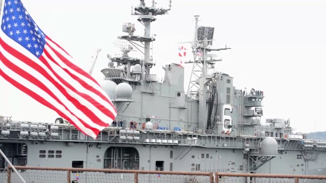 USS Bonhomme Richard departing Commander Fleet Activities sasebo Japan