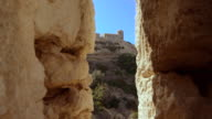 Bonifacio fortress, Calvi Corsica, Dolly in shot