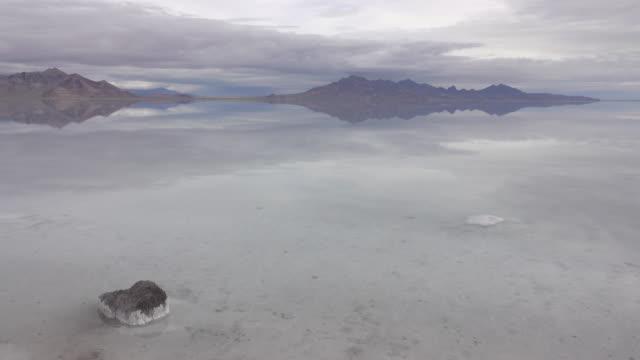 Bonneville Salt Flats Silver Island Mountains desert reflections Utah
