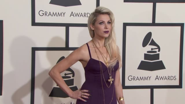 Bonnie McKee at The 57th Annual Grammy Awards Red Carpet at Staples Center on February 08 2015 in Los Angeles California