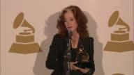 SPEECH Bonnie Raitt on splitting her time at The 55th Annual GRAMMY Awards Press Room 2/10/2013 in Los Angeles CA
