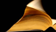 Book Pages Turning and Closing At The End Culture
