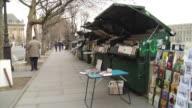 MS PAN Book stalls along river Seine, Paris, France