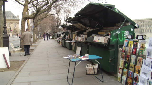 MS PAN Book stalls along river Seine, Paris, France