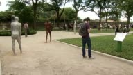 'Borders' art installation in Grant Park consists of 26 statues created by Icelandic Artist Steinunn Thorainsdottic 'Borders' Art Installation At...