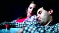 Boring movie night.