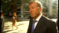 Boris Berezovsky sues Roman Abramovich over stake in oil company Royal Courts of Justice Court of Appeal Abramovich and entourage departing court