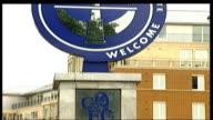Boris Berezovsky sues Roman Abramovich over stake in oil company R07120403 Stamford Bridge 'Welcome' sign outside Chelsea FC football ground...