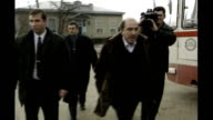 Boris Berezovsky sues Roman Abramovich over stake in oil company T18129914 Boris Berezovsky walking towards with others at the time of the Russian...