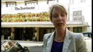Boris Berezovsky sues Roman Abramovich over stake in oil company ENGLAND London The Dorchester Hotel EXT Reporter to camera