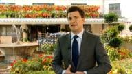 Boris Berezovsky sues Roman Abramovich over stake in oil company ENGLAND London EXT Reporter to camera