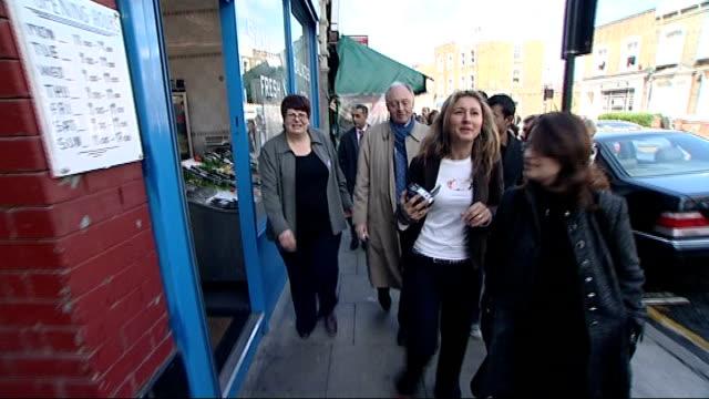 Boris Johnson and David Cameron at the Jill Dando Institute Ken Livingstone campaigning for Mayor in Stoke Newington Ken meeting local mainly Turkish...