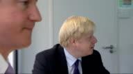 Boris Johnson and David Cameron at the Jill Dando Institute Ken Livingstone campaigning for Mayor in Stoke Newington ENGLAND London Jill Dando...