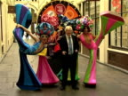 Boris Johnson and Priscilla Queen of the Desert dancers at the West End Its Time Launch With Boris Johnson at London