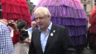 Boris Johnson and the Director of Cultural Olympiad Ruth Mackenzie Piccadilly Circus Circus at Piccadilly Theatre on September 02 2012 in London...