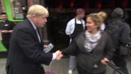 Boris Johnson Campaigns for Zac Goldsmith MP in London Mayoral Election handing out flyers and posing for photos with Londoners