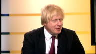 Boris Johnson interview as newly reelected London Mayor ENGLAND London GIR INT Boris Johnson LIVE STUDIO interview SOT Tough fight and always said it...
