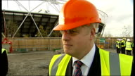 Boris Johnson interview SOT We think it's sensible to stagger it so you go for the Athletics in 2017 / it's not embarassing / London is the world...