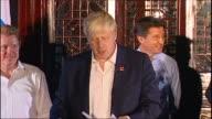 Boris Johnson makes a speech at Olympic Games handover party in Beijing