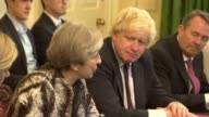Boris Johnson outlines his vision for Brexit in newspaper article LIB / 1262017 Downing Street INT Various shots of Theresa May MP chairing meeting...
