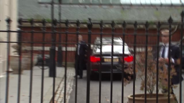 Boris Johnson returns from Conservative Conference ENGLAND London EXT Boris Johnson MP from car as returning home