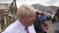 Boris Johnson saying residents of the British Virgin Islands have food and supplies for two months after Hurricane Irma and that Britain will be...