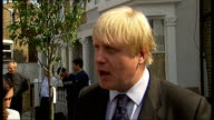 Boris Johnson visits a treeplanting scheme in Brixton Boris Johnson interview SOT Converting costs of London free papers into trees across London and...