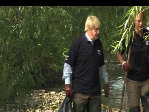 Boris Johnson visits River Pool in Lewisham London 04 June 2009