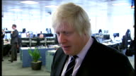 Boris Johnson visits TfL Road Control Centre general views and interview Boris Johnson interview SOT [re unsolved murder of boy 'Adam'] It is a very...