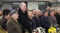 Bosnian people attend the 23rd commemoration of Markale massacre in Sarajevo Bosnia Herzegovina on February 05 2017 The Markale massacres were two...
