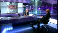 Police investigate claims of an illegal distillery ENGLAND London GIR INT David Bolt LIVE STUDIO interview SOT