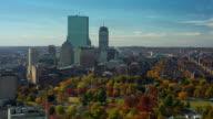 T/L WA HA Boston skyline transition from day to night