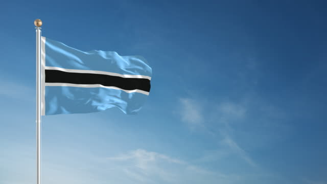 image of botswana flag flying
