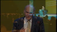 PHOTOGRAPHY *** Vince Cable MP speech SOT The likes of Mr Mittal and Mr Abramovich in their 30 million pound palaces as band H family home though...