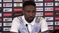 Bournemouth striker Jermain Defoe speaks at a media conference ahead of England's 2018 World Cup qualifiers against Malta and Slovakia