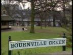 Alcohol ban LTN ENGLAND Birmingham Bourneville Village EXT Sign `Bournville Green' in Bournville village a village established by the founder of...